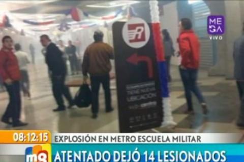 14 personas resultaron lesionadas tras explosión en Escuela Militar