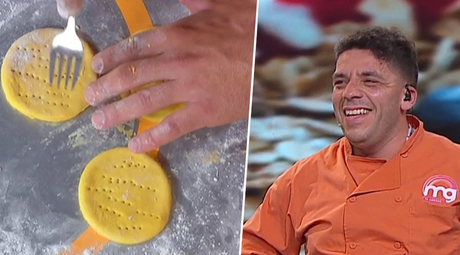 ¡Serrucho se lució al preparar exquisitas sopaipillas en Mucho Gusto!