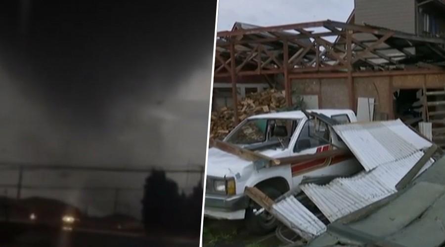 [Ahora] Impactantes efectos del tornado que generó pánico y destrucción en Los Ángeles