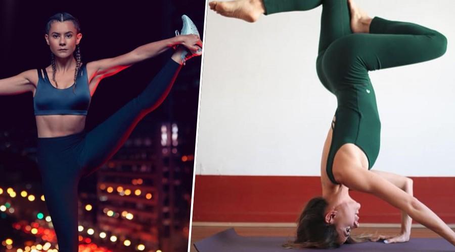 [FOTOS] La increíble destreza física de Marita García al practicar yoga