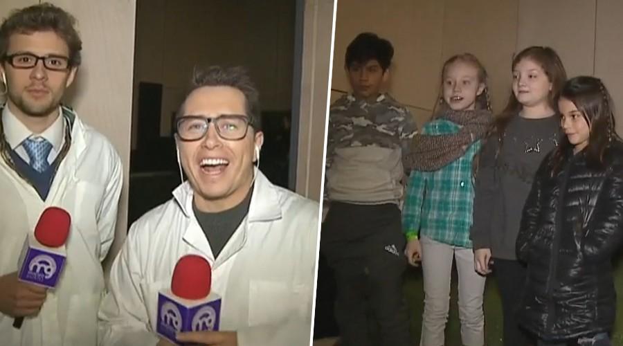 """""""Profesores"""" Karol y Joaquín premian a los niños """"mateos"""" en el MIM!"""