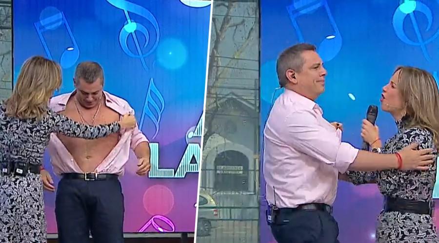Show de Diana Bolocco dejó a Viñuela con la camisa rota