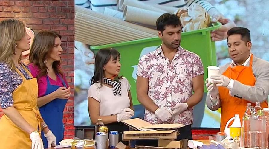 Los actores Carolina y Felipe crearon emprendimiento dedicado al reciclaje en eventos masivos