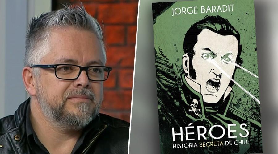 Jorge Baradit cuenta los mitos y verdades de los héroes chilenos en Mucho Gusto