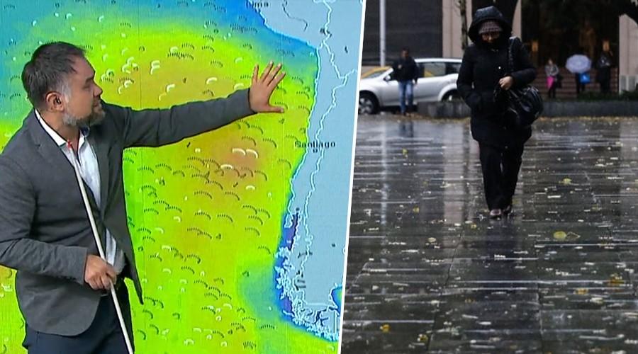 Por fin llueve en la zona central: Revisa el pronóstico del tiempo para este martes