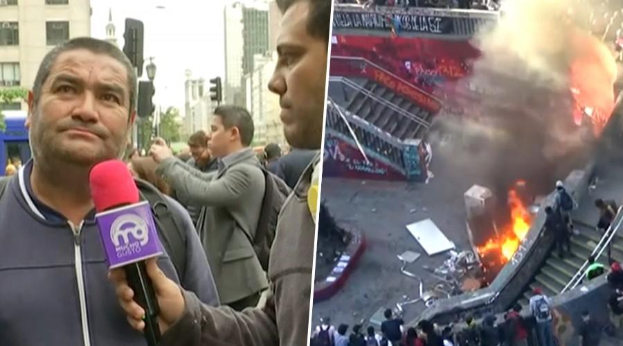 Equipo de Mucho Gusto muestra cómo quedó el centro de Santiago tras incendio en protestas