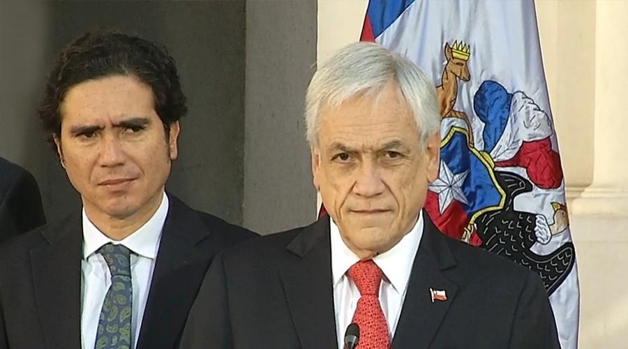 Presidente Piñera firma proyecto de ingreso mínimo y anuncia visita a civiles víctimas de violencia