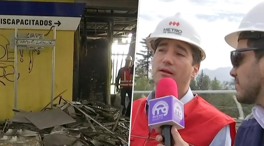 Mucho Gusto muestra las primeras imágenes de las estaciones de la Línea 4 que fueron dañadas