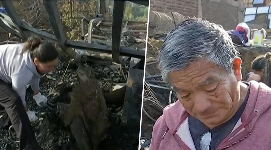 Víctimas de incendio en Valparaíso: A Rolando por tercera vez se le quemó su casa