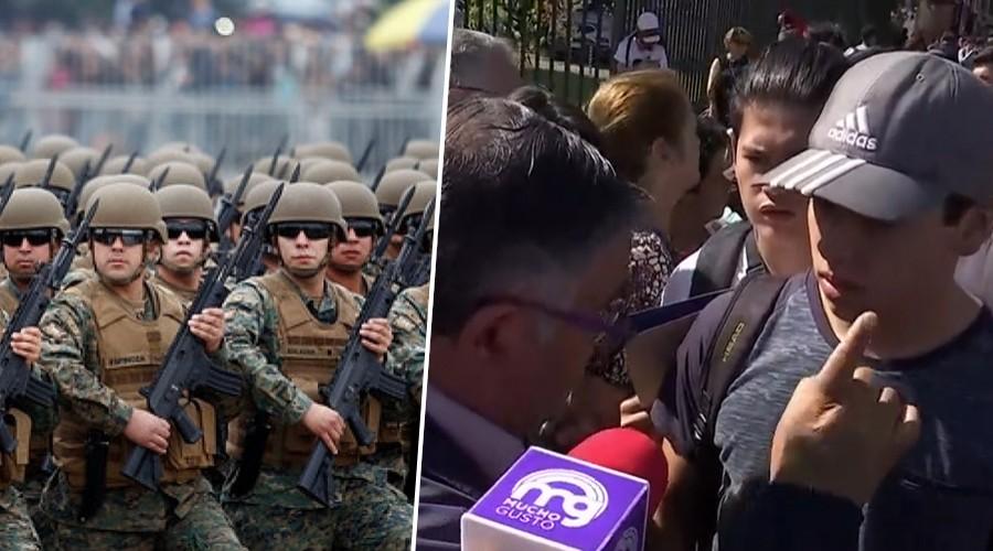 Mamás e hijos indignados por largas filas para postergar el servicio militar en Puente Alto