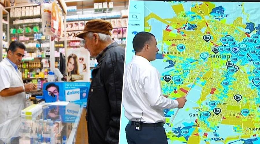 El mapa de la desigualdad en la ciudad: Las Condes tiene 124 farmacias y La Pintana 14