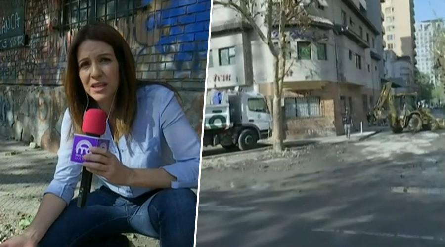 Karla Constant muestra cómo está Plaza Italia tras 33 días de manifestaciones
