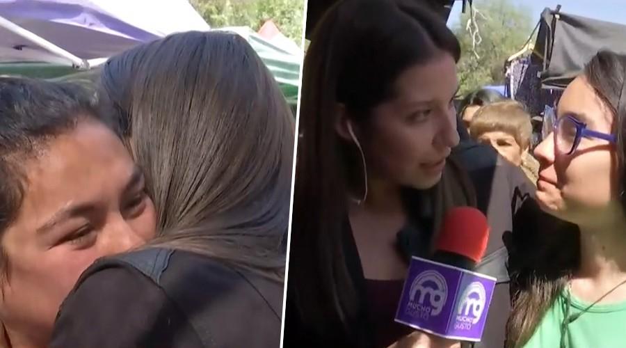 """Vecina de Maipú en Feria Borgoño: """"No me quiero morir, tengo dos niñas que quiero ver crecer"""""""
