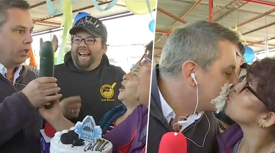 José Miguel Viñuela celebró su cumpleaños junto a los feriantes y vecinos de Macul