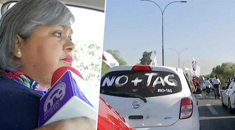 Movilización No + TAG: Sandra se declara en rebeldía y no pagará su deuda