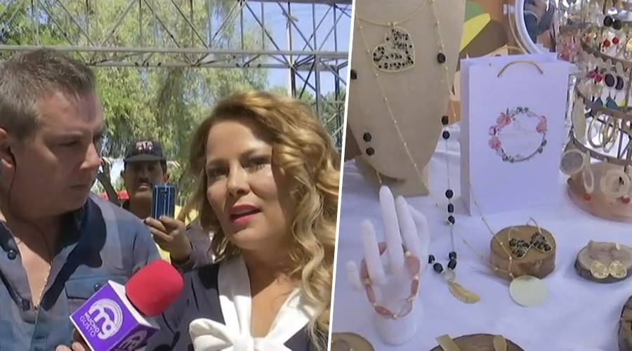 José Viñuela y la alcaldesa Cathy Barriga ayudaron a promocionar pymes de Maipú