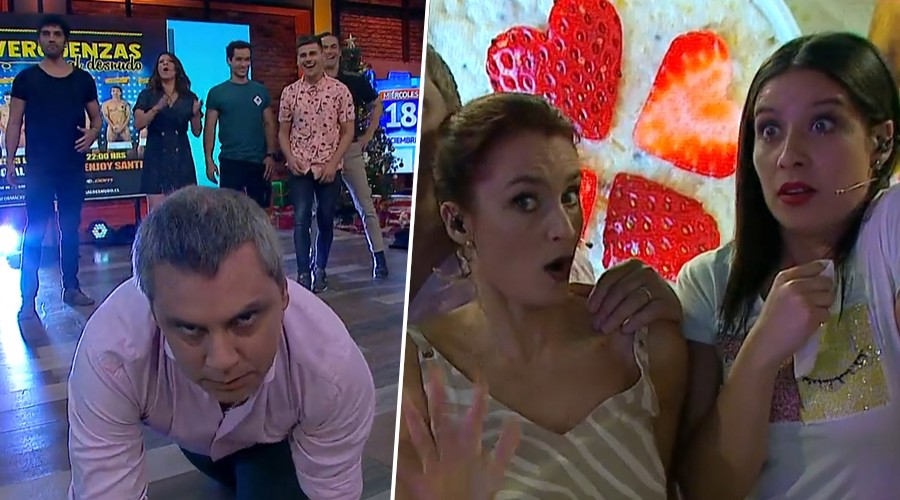 """Actores de """"sinvergüenzas"""" hicieron show para las mujeres y le dieron clases a José Viñuela"""