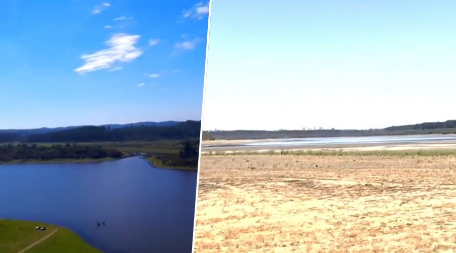 Chile y la peor sequía de la historia: El lago peñuelas tiene menos del 10% de su capacidad