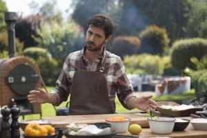 Locos x el Asado: Luciano aprendió a hacer un asado saludable junto a Sebastián Quaas y Connie Achurra