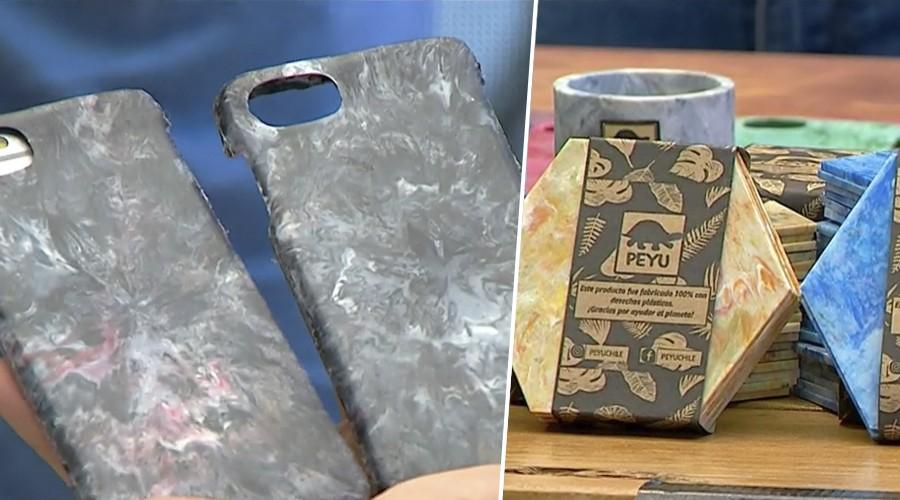 #EmprendedoresMG: Peyu Chile convierte las tapitas de botella en carcasas y posavasos