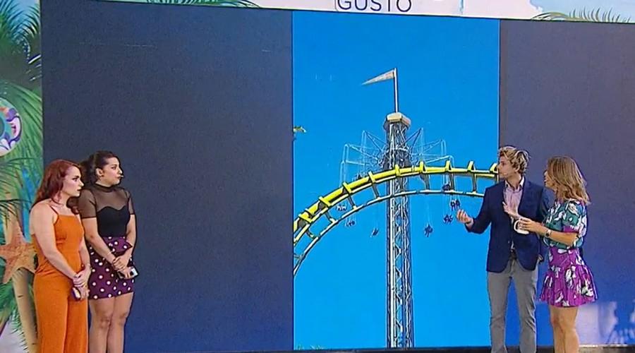 Minutos de terror se vivieron en atracción de Fantasilandia a más de 80 metros de altura por corte eléctrico