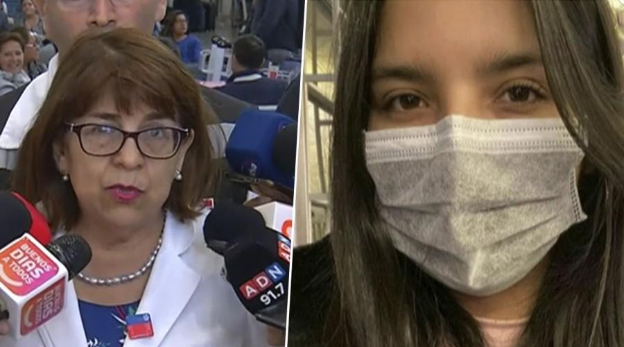 """Seremi Rosa Oyarce sobre coronavirus: """"Se está aplicando el protocolo a los pasajeros que provienen de China"""""""