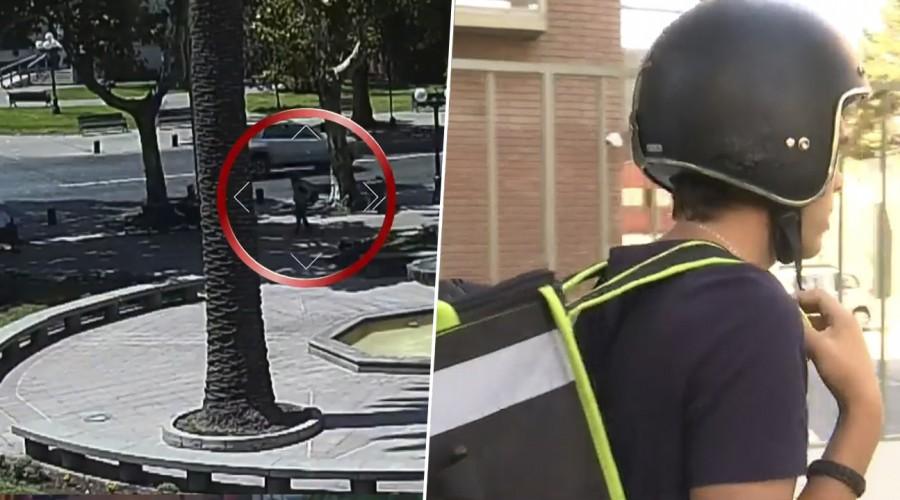 Delincuentes se disfrazan de repartidores de comida para asaltar a plena luz del día