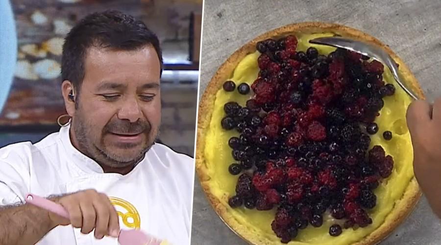Agustín Romero enseñó la receta de una fresca tarta de frutos rojos