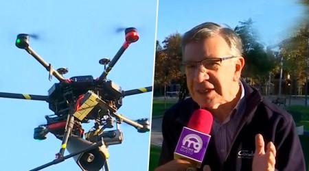 Con drones y parlantes advierten peligros de coronavirus en Las Condes