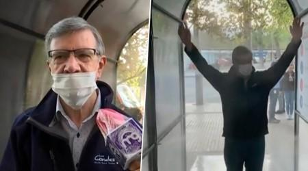 Asi es el túnel sanitizador contra Covid-19 de Las Condes