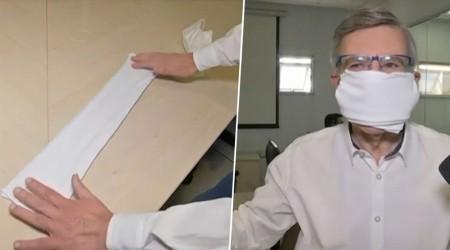Alcalde Joaquín Lavín realiza tutorial para hacer mascarillas en vivo