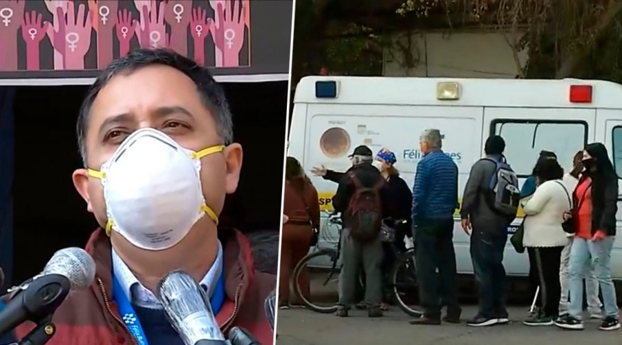 Desde las 5 de la mañana y con largas filas: Molestia en retiro de medicamentos en Hospital Félix Bulnes