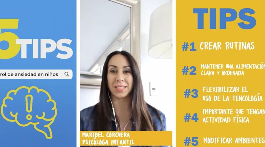 #5Tips: ¿Cómo controlar la ansiedad de los niños en cuarentena?