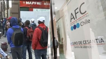 Largas filas en el centro de Santiago para cobrar seguro de cesantía
