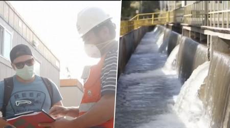 Trabajadores en confinamiento voluntario para asegurar abastecimiento de agua