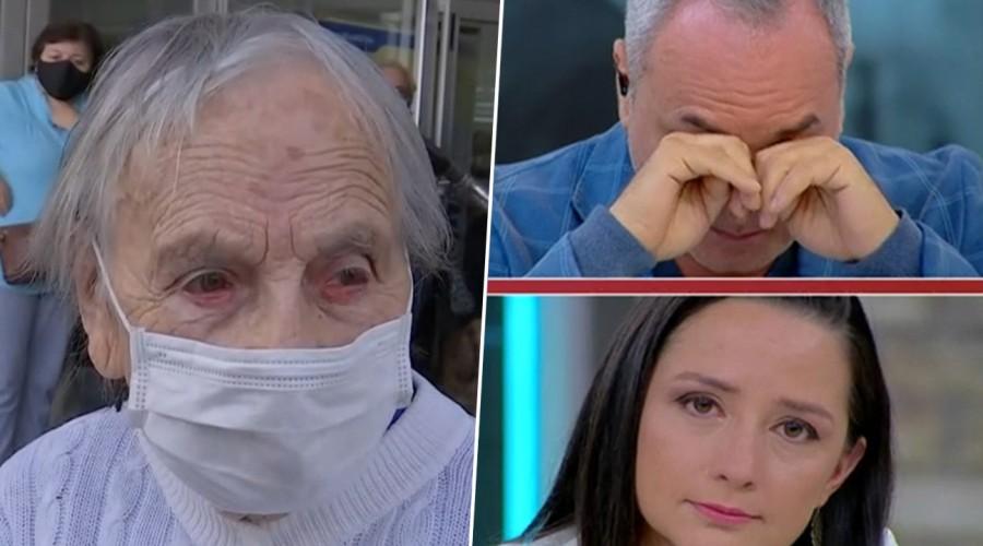 Jubilado regala su pensión a abuelita de 90 años que no era beneficiaria del bono Covid-19 en pleno despacho