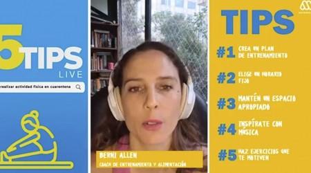 #5TipsLive: Berni Allen y las horas de ejercicios necesarias para activar las defensas del cuerpo