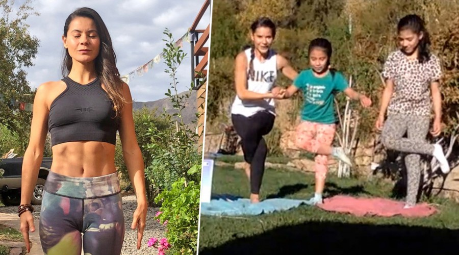 Yoga para niños: Marita García da clase y enseña técnicas para practicar en familia