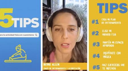 #5TipsLive para realizar actividad física en cuarentena