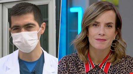 """Doctor """"primera línea"""" con hijo trasplantado hace 2 meses que no puede abrazarlo"""