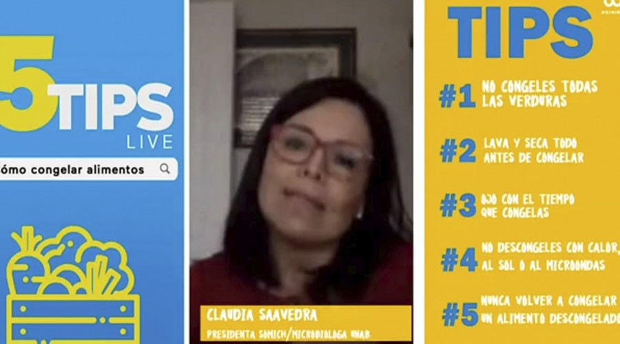 #5Tips Live: microbióloga explica por qué no es recomendable descongelar alimentos con agua caliente