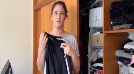 Belén Mora muestra su outfit ideal para sacar la basura durante la cuarentena
