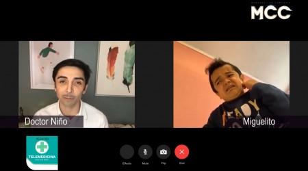 Miguelito pidió una hora al doctor a través del sistema de telemedicina