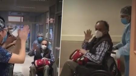 Hombre de 69 años le ganó al Covid-19 y salió entre aplausos del hospital