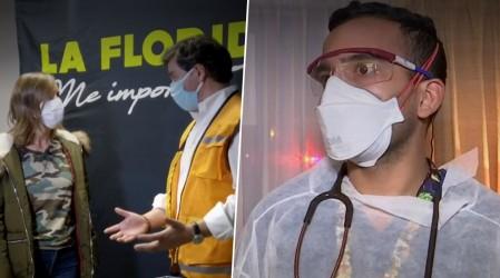 Diana mostró la labor de los doctores a domicilio en un recorrido por La Florida