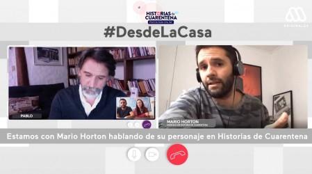Mario Horton y lo que significa trabajar con Pancho Melo en Historias de Cuarentena