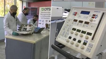 Empresa aeronáutica de Chile recicla ventiladores mecánicos en desuso para combatir el Covid-19