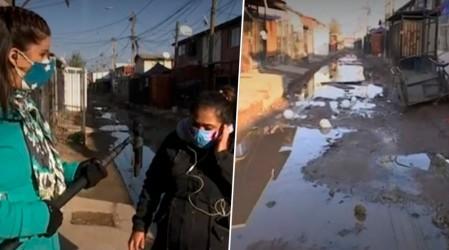 Vecinos de La Pintana en el de barro por calles en mal estado