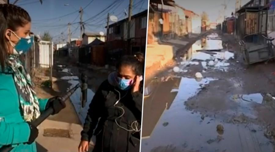 Vecinos de La Pintana en el de barro por calles en mal estado: No ha podido ingresar ambulancia ni funeraria