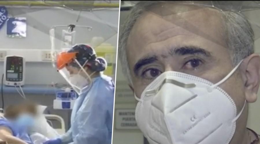 """Doctor Ugarte se quiebra al mostrarnos el trabajo de la primera línea en la UCI:""""Esto no lo había visto nunca"""""""
